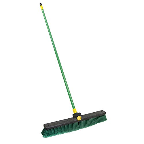 Quickie Bulldozer 24-Inch Multi-Surface Push Broom with Scraper (24 Inch Broom compare prices)