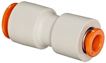 SMC KQ2H Push-to-Connect Tube Fitting, Straight Reducing Union, PBT Body, Tube OD, Inch