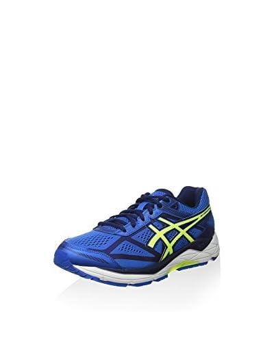 Asics Zapatillas de Running Gel-Foundation 12 (2E) Azul Eléctrico / Amarillo / Azul Índigo
