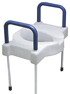 Tall-Ette Extra Wide Elevated Toilet Seat with Steel Legs
