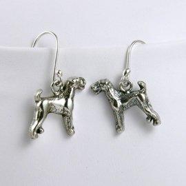 Airedale Terrier Sterling Silver Earrings