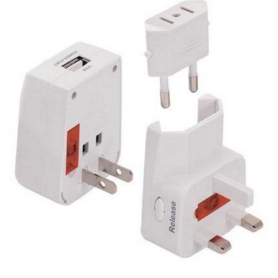 Universal World Travel Ac Wall Adapter Usb Power Port Charger