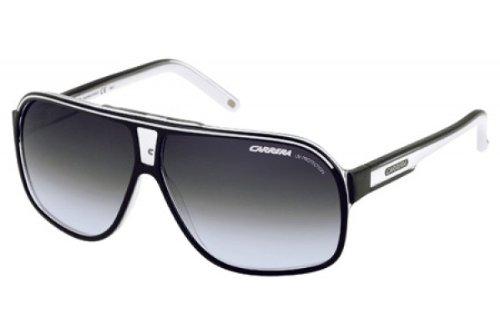 Carrera - GRAND PRIX 2 9OT4M64 (64 mm), Occhiali Da Sole unisex, schwarz/weiß, one size