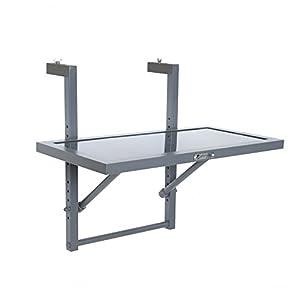 Greemotion Table De Balcon Suspendue Et Rabattable En