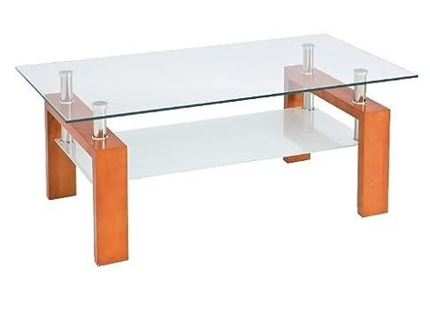 Jadella Lisa - Tavolino per il salotto in legno di ontano e vetro