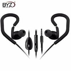 BYZ K6 Silicone Ear Hook Sport TPE Remote Earphone Headset For Smartphone