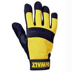 DEWALT All Purpose Synthetic Leather Palm Spandex Back Velcro Wrist Work Glove