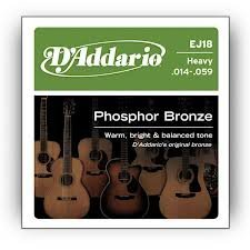 D'Addario EJ18x5 , Acous Guit Strings, Phos/Brnz Rnd Wnd, He
