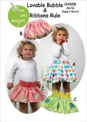 Olive Ann Designs Patterns Lovable Bubble & Ribbons Rule; 2 Items/Order
