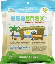 Seasnax Classic Olive, Family 4 Pack (4x2.16 Oz)