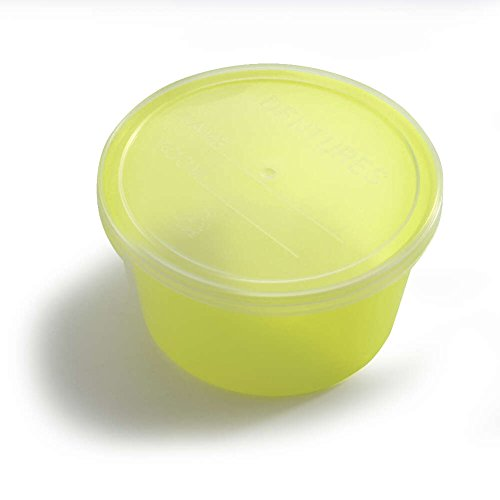 MediChoice Denture Cup, With Opaque Lid, 8 Ounce, Fluorescent Green (Bag of 25)