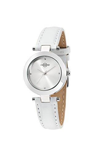 Chronostar Pastel-Orologio da donna al quarzo con Display analogico e cinturino in pelle bianco R3751243501