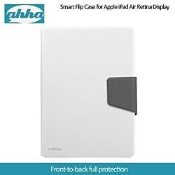Ahha Zaki Smart Flip Case for Apple iPad Mini Retina Display - White / Grey (A-FPAPIDMR-SZ2G)