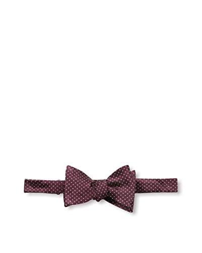 Bruno Piattelli Men's Classic Dot Bow Tie, Burgundy