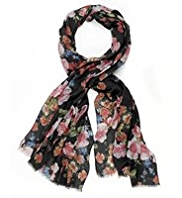 M&S Collection Lightweight Tapestry Floral Scarf