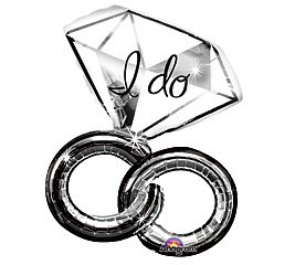 """30"""" Wedding Rings """"I Do"""" Balloon Engagement Party Supplies"""