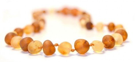 The Art of Cure Baltic Amber Teething Necklace for Baby (Raw Cognac/Lemon) - Anti-inflammatory - 1