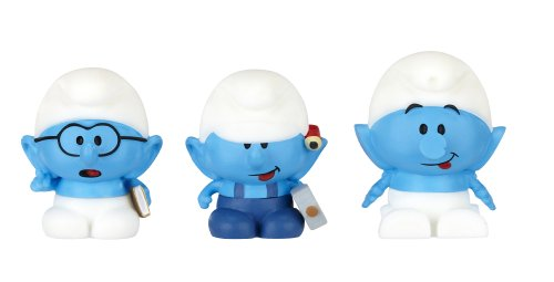 SMURFS 2 Micro Figure 3 Pack: Brainy, Handy, Clockwork - 1