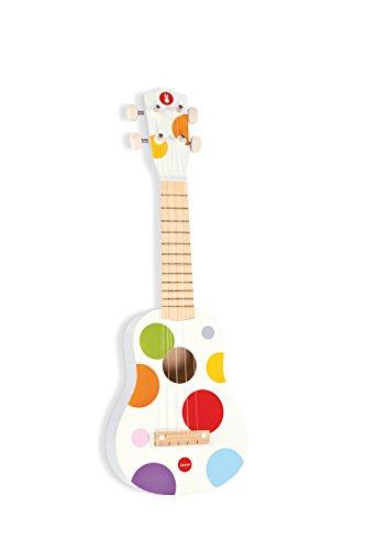 Janod - Confetti ukulele de juguete de madera (J07597)