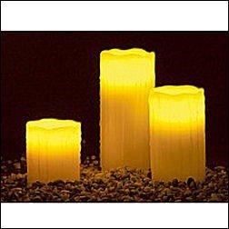 LED-Echtwachskerzen (3er Set) & Fernbedienung