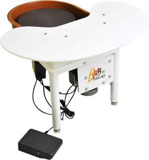 Speedball Boss Elite Pottery Wheel with Utility Shelf from Speedball