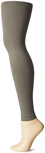 Nine West Women'S Control Top Solid Seamless Legging, Charcoal, Medium/Tall
