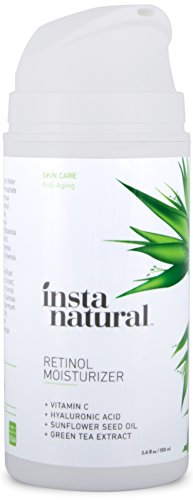 InstaNatural Retinol Moisturizer Anti Aging Cream - Anti Wrinkle Lotion For Your Face - Helps Reduce Appearance of Wrinkles, Crows Feet, Circles & Fine Lines - With Vitamin C Hyaluronic Acid - 3.4 OZ (Arm Leg Sun Protection compare prices)