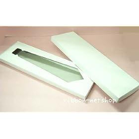 【クリックで詳細表示】【ギフトボックス】白無地箱エスプリ ネクタイ用L(N-3)10枚入G-BOX-41: 文房具・オフィス用品
