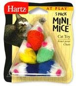 Hartz At Play 5 Pack Mini Mice Cat Toy