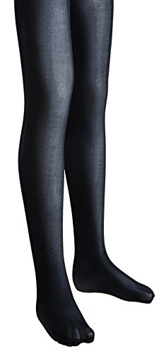 Sportoli™ Girls Opaque Hold and Stretch Footed Ballet Dress Tights - Navy (size 12/14)
