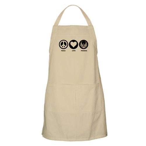 Cafepress Peace Love Phoenix BBQ Apron - Standard