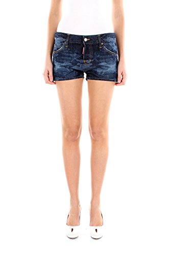 S75MU0164S30281470-Dsquared2-Shorts-Femme-Coton-Bleu