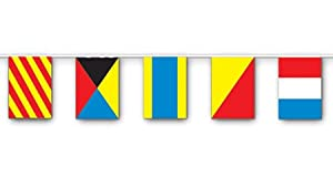 Nautical Flag Banner Party Accessory (1 count) (1/Pkg) by The Beistle Company
