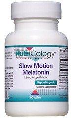 Nutricology Slow Motion Melatonin 60 Tabs