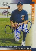 Cliff Bartosh San Diego Padres 2003 Leaf Rookie Autographed Hand Signed Trading Card. by Hall+of+Fame+Memorabilia