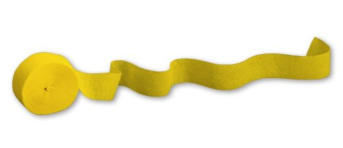 Creative Converting Touch of Color Crepe Paper Streamer Roll, 81-Feet, School Bus Yellow (Dot Crepe Paper compare prices)