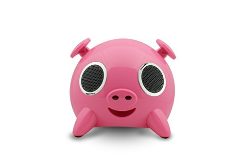 Amethyst Innovations A1-Bt7120Pk Bluetooth Pig Speaker, Pink