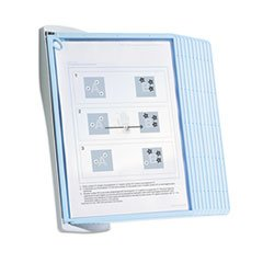 * SHERPA Style Desk Reference System, 20 Sheet Capacity, Blue/Gray