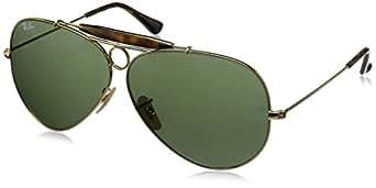 Ray Ban RB3025 112-19 Gelb Vert Gold Green Mirror Unisex Sonnenbrille Aviator Sunglasses 58mm