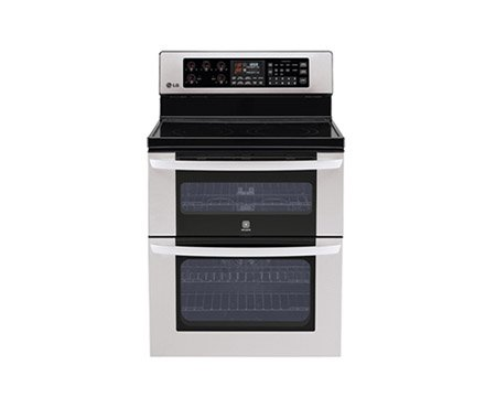 """Lg Lde3017 True Convection Infrared Electric Large Capacity Oven With 6"""" High Upper Oven An, Stainless Steel"""