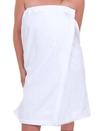 Custom embroidered terry womens bath wrap for Bath wraps bathroom remodeling reviews