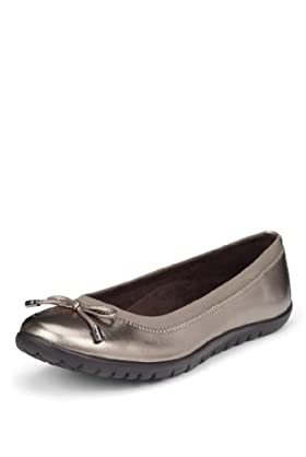 M&S Collection Step-Tone Slip-On Ballerina Shoes [T02-3815-S]