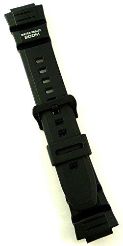 Casio De Wv Negro Ae Band 2000w Correa Reloj Resin 200 vN80wnm