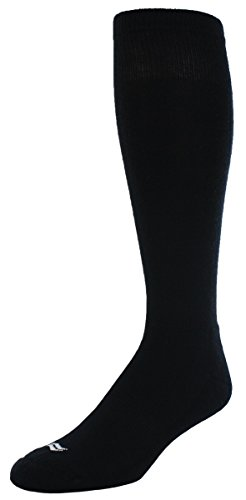 2 Pack Sof Sole Youth Baseball Team Socks, Black, One Size(Small)
