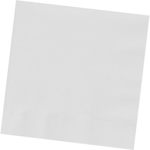 Frosty White Beverage Napkins (50ct)