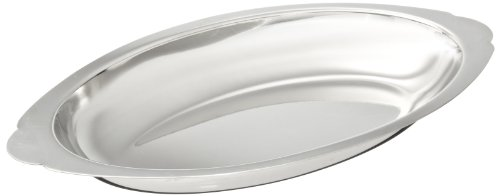 Adcraft OAG-12 12 oz Stainless Steel Oval Au Gratin with Mirror Finish