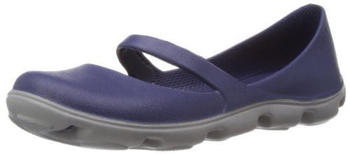 Crocs Duet Sport Mary Jane 12709-49D-500, Damen Mary Jane Halbschuhe, Blau (Nautical Navy/Smoke), 42 EU / 8 UK