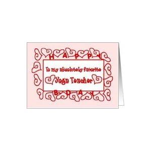 Amazon.com: Yoga Teacher Happy Birthday Card: Health &