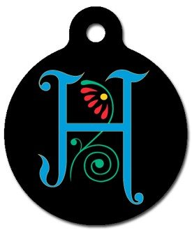 Monogram Letter H Pet ID Tag for Dogs and Cats