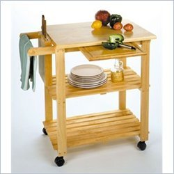 Cheap Winsome Utility Butcher Block Kitchen Cart in Natural Finish (B004GIKQXS)